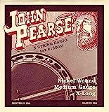 John Pearse 1800M Jeu de 5 cordes pour Banjo Medium Nickel Naturel