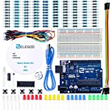 ELEGOO UNO R3 Carte Kit De Démarrage Basique avec Guide d'utilisation Français Kit d'apprentissage de Base Projet Compatible avec Arduino IDE