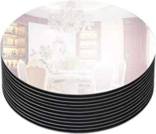 "Murrey Home 8"" Bevel Edge Mirror Tray Round for Wedding Decorations/Decor, Candle.."