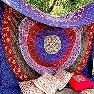 Marubhumi Hippy Mandala Bohemian Tapestries, Indian Dorm Decor, Psychedelic Tapestry Wall..
