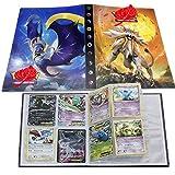 ESOOR Pokémon Carte Album, Pokémon Cartes Titulaire, Pokémon classeur pour Cartes Album Livre Protection pour Pokémon Commerce Cartes GX EX boîte(Sun&Moon)