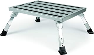 Camco Adjustable Height Aluminum Platform Step- Supports Up to 1,000 lb., Includes..