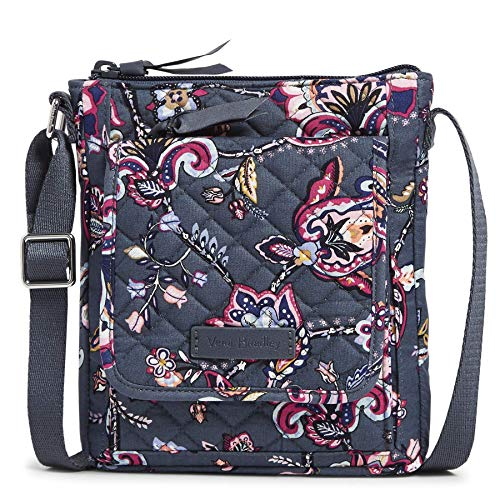 Vera Bradley Signature Cotton Mini Hipster Crossbody Purse with RFID Protection, Felicity Paisley