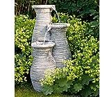 Dehner Gartenbrunnen Vaso mit LED Beleuchtung, Steinoptik, ca. 68 x 37 x 37 cm, 7.5 kg, Polyresin, grau - 2