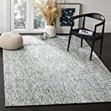 Safavieh Abstract Collection ABT468B Handmade Premium Wool Area Rug, 8' x 10', Blue / Charcoal