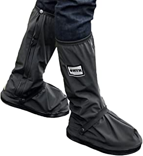 USHTH Black Waterproof Rain Boot Shoe Cover with reflector (1 Pair)