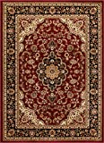 Well Woven Barclay Medallion Kashan Red Traditional Area Rug 6'7'' X 9'6''