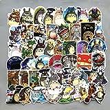 50 maletas de dibujos animados no repetitivos alrededor de Totoro equipaje carrito maleta portátil grafiti pegatinas