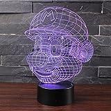 3D Lampes Illusions Optiques NHsunray 7 couleurs Changement Tactile Interrupteur Lumière De Nuit...