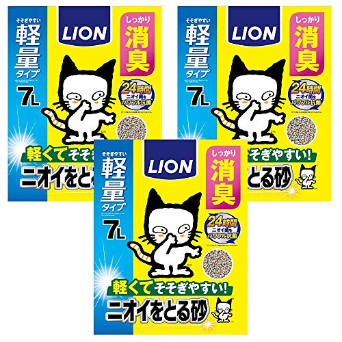 【Amazon.co.jp限定】 ニオイをとる砂 猫砂 軽量タイプ 7L×3袋 (ケース販売)