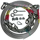 Freedom Aerial Double Dog Trolley Run Cable 2 Dogs FADR-DD500 (Large Dogs, 200 FT)