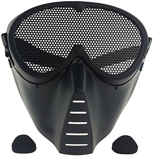 SportPro cm Mesh Eye Protection Full Face Mask for Airsoft - Black