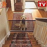 Magic Gate Dog - Barrera de Seguridad Plegable Portátil para Perro, Puerta de Seguridad Aislada para Perros y Mascotas,72 x 180 cm (Negro)