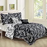 Home Soft Things LA Boheme Bedspread & Coverlet Sets, King Coverlet: 102' x 90', Black