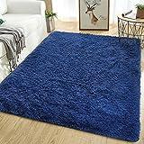 Softlife Soft Area Rugs for Living Room 5.3' x 7.6' Comfy Indoor Fluffy Fur Floor Carpet for Kids Boys Girls Bedroom Dorm Room Large Modern Decorative Nursery Rug, Navy Blue