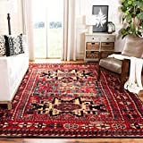 Safavieh Vintage Hamadan Collection VTH213A Antiqued Red and Multi Area Rug (6'7' x 9')