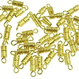 Barrel Screw-100pcs-screw Type Clasp 4x15mm-10 with Ellami Retail Packaging (Gold)