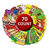 Mexican Candy Mix Assortment Bag ( 70 count) Variety of Spicy, sour and sweet Dulces Mexicanos Gift Box, Best sellers Such as Lucas, Pelon, Duvalin, Rockaleta, salsaghetti, Pulparindo By Vexillum