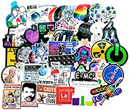 Vinyl Student Science Experiments Stickers Pack 51 Pcs Physics Chemistry Biology Stickers..