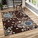 Orian Rugs 2319 Veranda Indoor/Outdoor Retro Fit Area Rug, 5'2' x 7'6', Brown