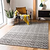 Safavieh Kilim Collection KLM401T Hand-woven Wool Area Rug, 5' x 8', Brown/Charcoal