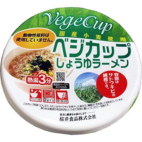 桜井食品 ベジカップしょうゆラーメン 78g×12個