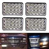 Rectangular 4x6 Inch LED Headlights Bulb for Peterbilt Kenworth FREIGHTLINER Headlamp Projector lens Replace HID Xenon Headlamps bulbs H4651 H4652 H4656 H4666 H65454PC