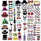 Comius 90 Pcs Colorés Accessoires Photobooth Masquerade Accessoires de...