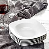 MALACASA, Série Julia, 6pcs Assiettes Creuses Porcelaine, Assiettes à...