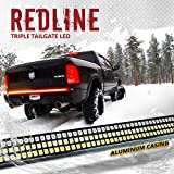 OPT7 60' Redline Triple LED Tailgate Light Bar w/Sequential Amber Turn Signal - 1,200 LED Solid Beam - Weatherproof No Drill Install - Full Function Reverse Brake Running 2yr Warranty