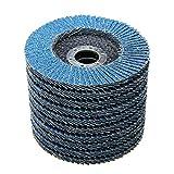 Nisorpa Premium Zirconia Oxide Flap Discs 40 Grit,50 Pack Industrial Abrasive Flap Sanding Discs Stainless Steel Sanding Discs For Wood Metal Polishing