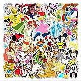 Sticker Mickey Mouse Snow White Luggage Piano Car Bike Graffiti Sticker Waterproof 56pcs