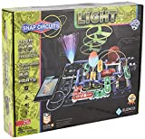 Snap Circuits LIGHT Electronics Exploration Kit | Over 175 Exciting STEM Projects | Full Color Project Manual | 55+ Snap Circuits Parts | STEM Educational Toys for Kids 8+,Multi (Toy)