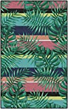 Brumlow Mills Malibu Stripes Tropical Machine Washable Area Rug for Home Office, Living Room Decor, Bedroom Mat, Dining or Kitchen Rug, 5' x 8', Multicolor
