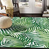 ALAZA Tropical Palm Tree Leaves Watercolor Area Rug Rugs for Living Room Bedroom 7' x 5'