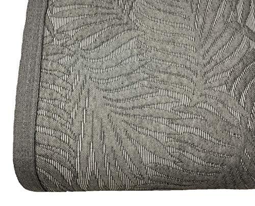NORA HOME Copriletto Piquet Palm Foglie di Jacquard, tutte le misure grigio, 250 x 260 cm (letto 150/160)