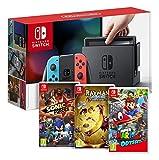 Console Nintendo Switch avec Joy-Con - rouge néon/bleu néon Rayman Legends - Definitive Edition pour Nintendo Switch Sonic Forces Super Mario Odyssey