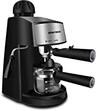 Steam Espresso Machine, SOWTECH 3.5 Bar 4 Cup Espresso Maker Cappuccino Machine with Steamer