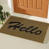Silk Road Concepts Hello Doormat Rugs, 20' x 30', Beige