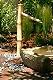 Bamboo Accents 36 Tall Outdoor Water Fountain Spout, Easy Install in Pond or Garden, Handmade Smooth Natural Split-Resistant Bamboo