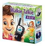 Esplora il mondo con walkie talkie di portata pari a 3 km Numerose funzioni: 8 canali utilizzabili ovunque, modalità chiamata con 10 suonerie, torcia integrata, retroilluminazione schermo etc Istruzioni illustrate incluse Da 8 anni in su