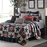 Virah Bella Collection Phyllis Dobbs Mountain Cabin Gray Polyester Full/Queen Quilt Bedding Set with 2 Standard Shams