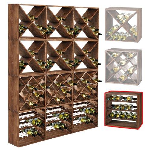 Cantinetta / scaffale per vino / sistema CUBE 50, legno massiccio, modulo standard - a 50 x l 50 x p...