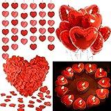 MMTX Décorations de Saint-Valentin, Amour Coeur Feuille de Ballons Coeurs...