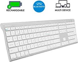 Macally Wireless Bluetooth Keyboard with Numeric Keypad for Laptops, Computers (Apple:..
