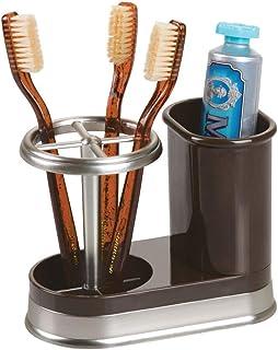 mDesign Decorative Bathroom Dental Storage Organizer Holder Stand for Electric Spin..