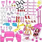 Accessoires de vêtements pour poupée - WEBTS 108 Pièces Ensemble...