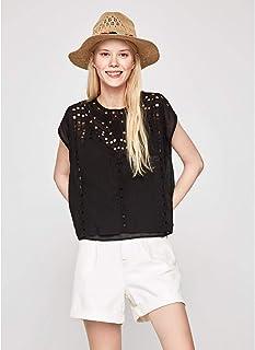 Pepe Jeans - PL303360 Tanya 999 Black - Top - Mujer