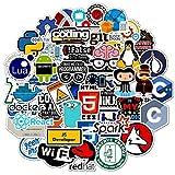BLOUR 50 unids/Bolsa Pegatinas de programación geniales Logo Pegatina de Software de Internet Regalo Divertido para desarrolladores de Hackers Frikis para teléfono portátil DIY