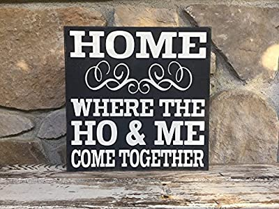 Material:Wood Printed on the wood for a more realistic effect Wood plank plaque and finished with a hanging jute rope Great for indoor and outdoor use Funny Sign Shabby Chic Wooden Wall Plaque makes a great small gift